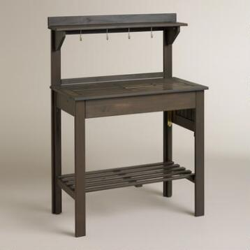 Laguna Gray Wood Potting Bench
