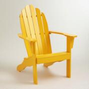 Golden Rod Yellow Classic Adirondack Chair