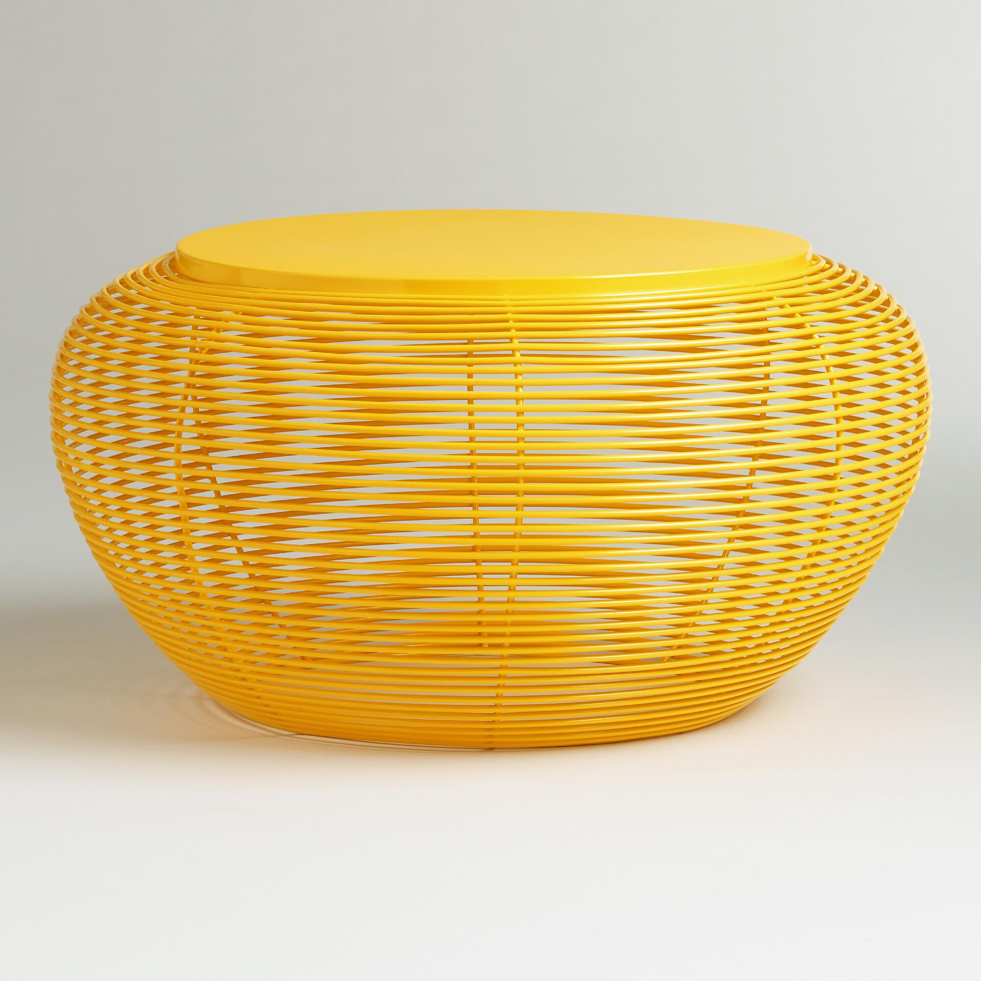 Yellow Carilo Coffee Table World Market