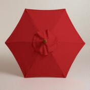 5' Pompeian Red Umbrella Canopy