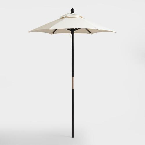 Black 5 ft Umbrella Frame and Pole