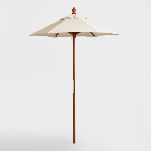 Brown 5 ft Umbrella Frame and Pole