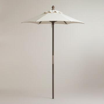 5' Gray Umbrella Frame