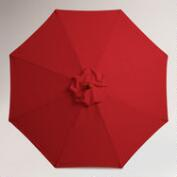 9' Pompeian Red Umbrella Canopy