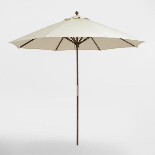 Espresso Brown 9 ft Umbrella Frame and Pole