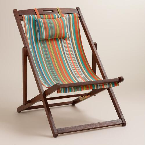 Sunset Stripe Sling Chairs, Set of 2