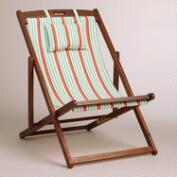 Deck Stripe Sling Chairs, Set of 2