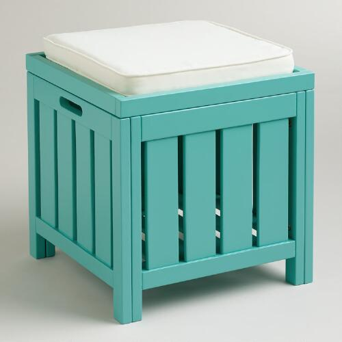 Baltic Blue Storage Stool