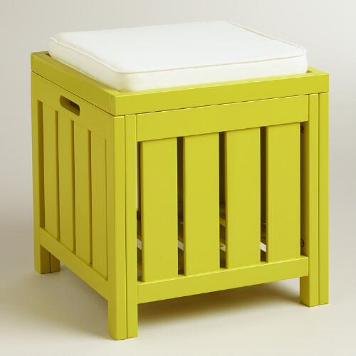 Apple Green Storage Stool