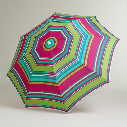 Thai Stripe Beach Umbrella