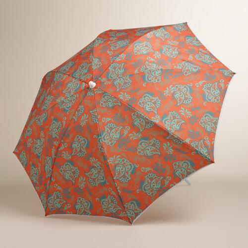 Koi Floral Beach Umbrella