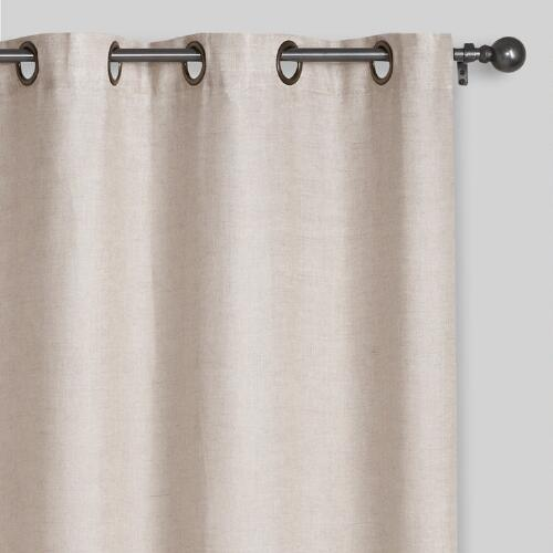 Natural Linen Grommet Top Curtain