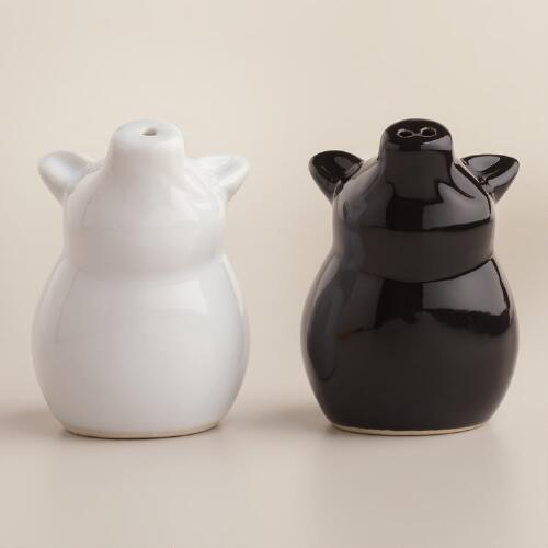 Sitting Pig Salt and Pepper Shakers, Set of 2