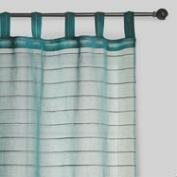 Blue Jute Striped Sahaj Curtain