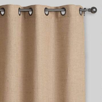 Hemp Burlap Grommet Top Curtain