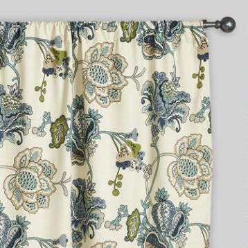Floral Tatiana Sleevetop Curtains, Set of 2