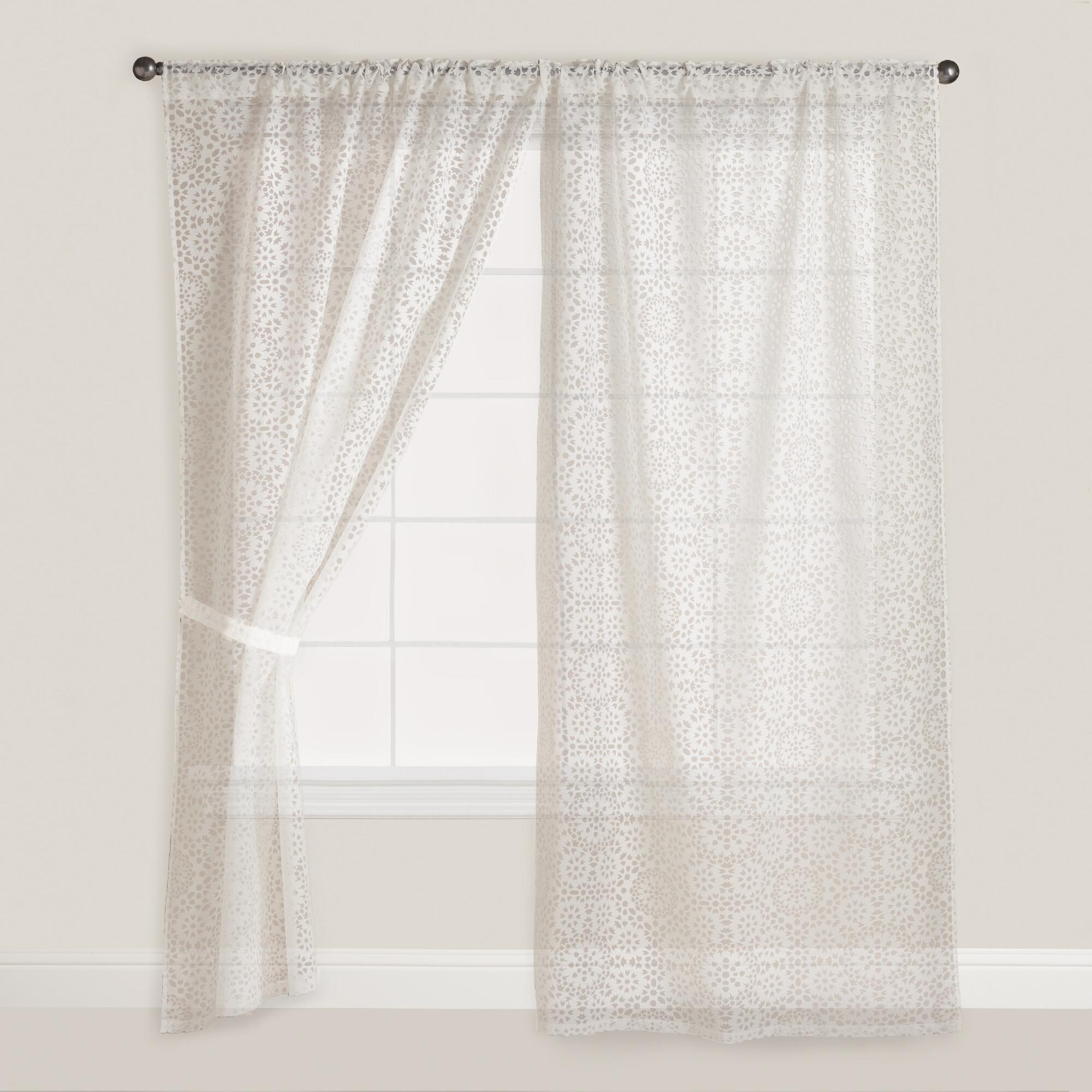 Burnout Curtains Mosaic Sheer Bur...