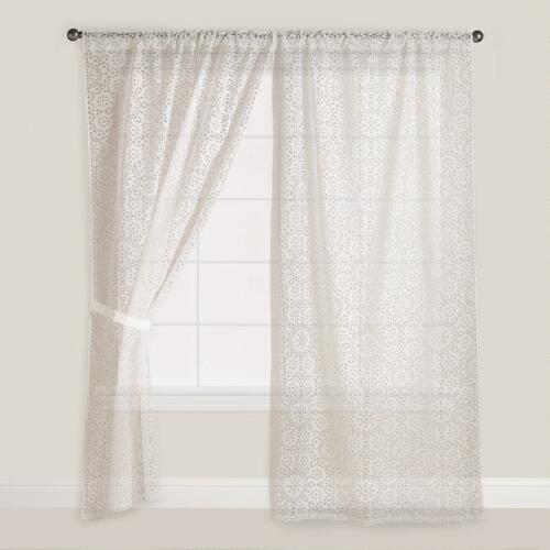 Mosaic Sheer Burnout Curtain