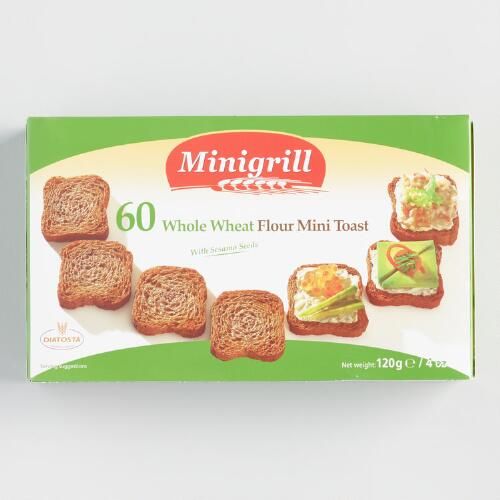 Diatosta Mini Wheat Toasties, Set of 18