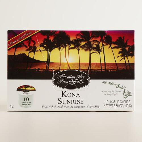 Hawaiian Isles Sunrise Kona Single Serve Coffee Cups