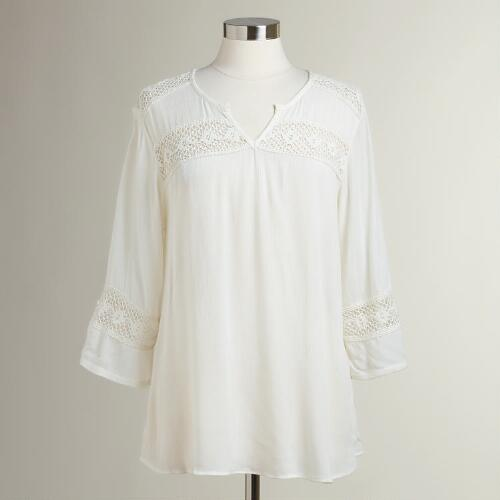 White Lace Safia Blouse