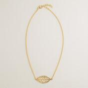 Gold Delicate Leaf Necklace
