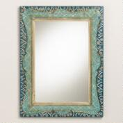 Hand-Painted Raya Scalloped Mirror