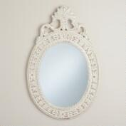 Antique White Oval Paloma Mirror
