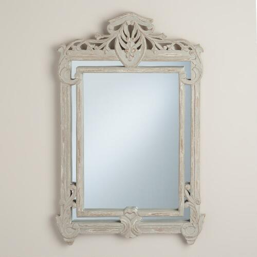 Gray Rectangular Margarita Mirror