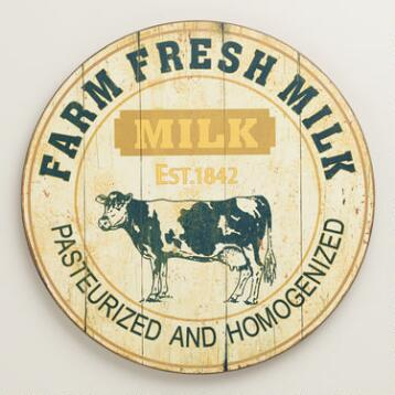 Farm Fresh Milk Wall Art