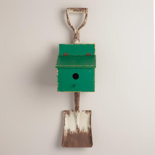 Birdhouse and Shovel Wall Decor
