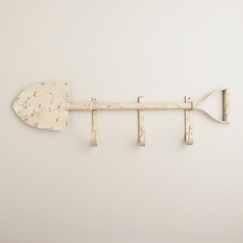 3-Hook Shovel Wall Decor