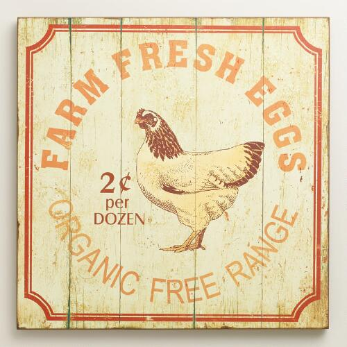 Farm Fresh Eggs Wall Art