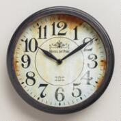 Small Black Round Micah Clock