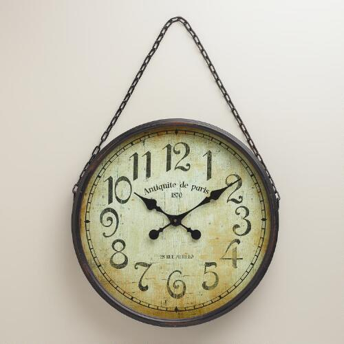 Black Chain Gia Wall Clock