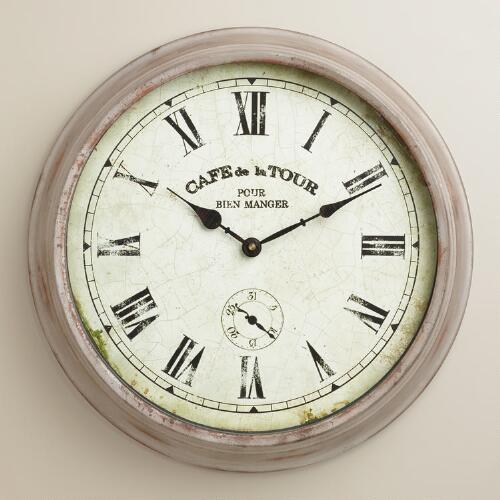 Galvanized Ansley Wall Clock