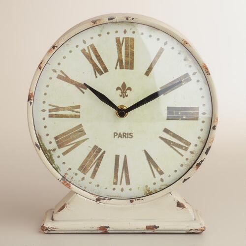 Ivory Taylor Tabletop Clock