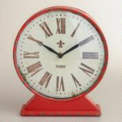 Red Taylor Tabletop Clock