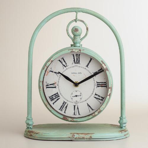 Blue Jalynn Swinging Clock