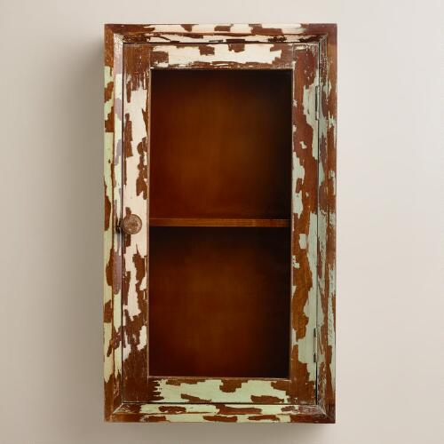 Painted Keely Wood Wall Cabinet