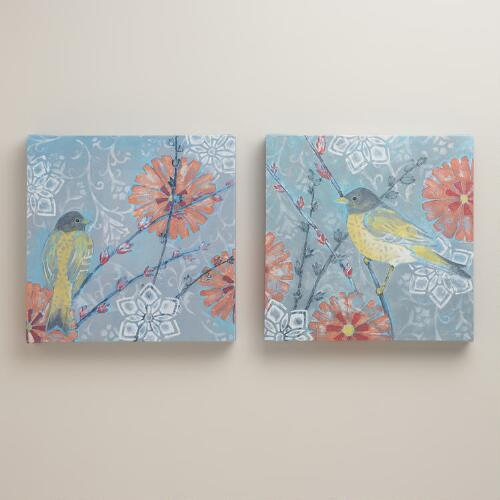"""Little Wren I and II"" by Kate Birch, Set of 2"