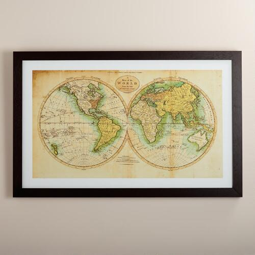 Vintage-Style World Map
