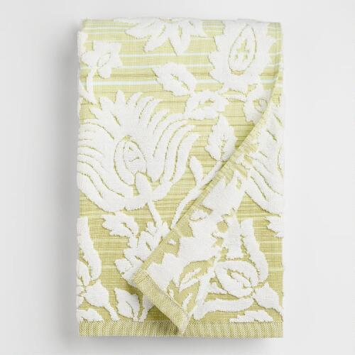 Cool Ombre Sculpted Bliss Bouquet Bath Towel