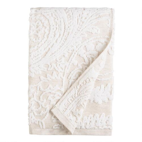 Alexandra Linen Flower Bath Towel