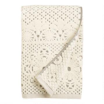 Lattice Sculpted Bath Towel