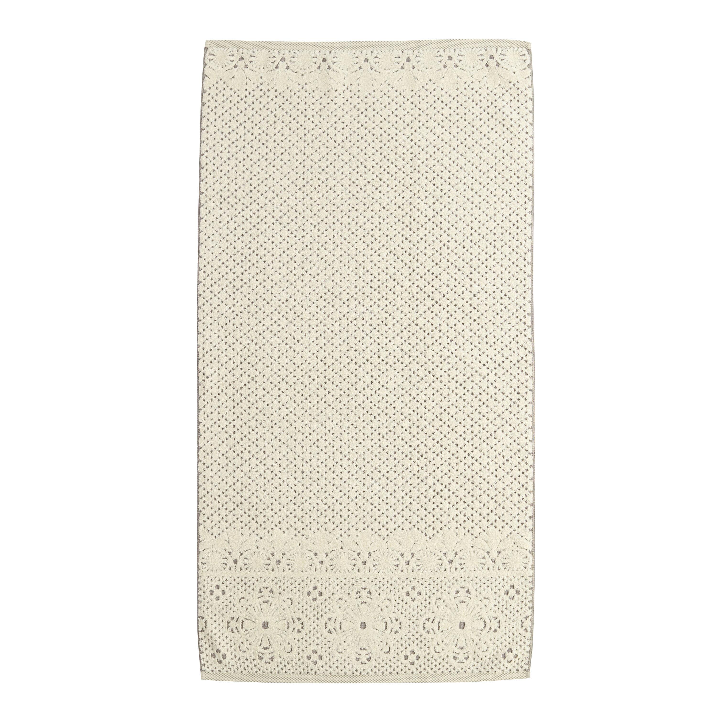 lattice sculpted bath towel gray cotton by world market ebay. Black Bedroom Furniture Sets. Home Design Ideas