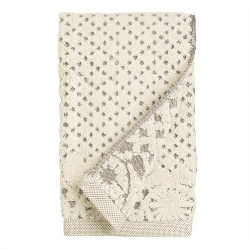 Lattice Sculpted Hand Towel