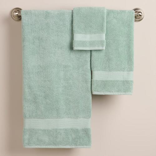 Harbor Blue Bath Towel Collection