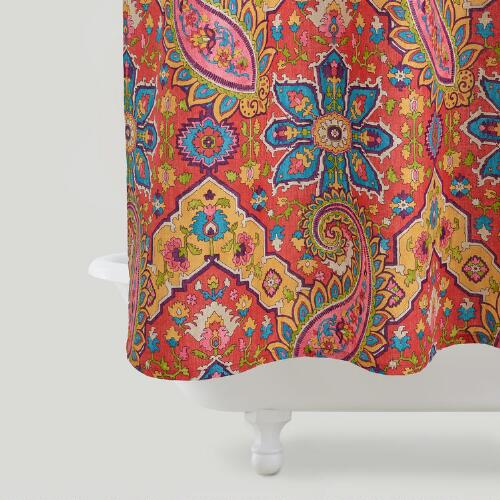Phoebe Paisley Shower Curtain