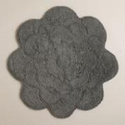 Frost Gray Flower Bath Mat
